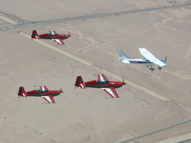 Formation with the Royal Jordanian Falcons
